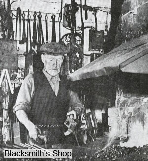 The blacksmith's remained until early 1964